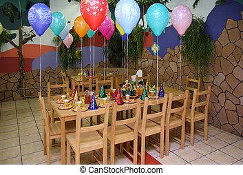 asilo, tavola, celebratory