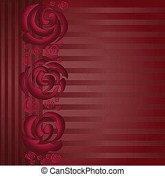 asimétrico, rosas, plano de fondo