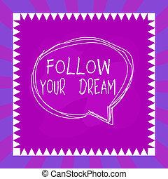 asimmetrico, concetto, lei, scrittura, seguire, vita, testo, parlante, tuo, mete, essere, parola, design., custodire, oggetto, multicolor, contorno, modellato, vivere, dream., bolla, dentro, pista, volere, affari