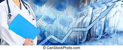 asistencia médica, mercado de valores, plano de fondo