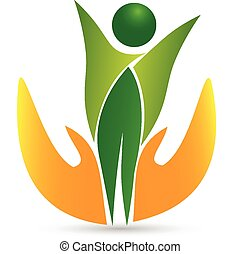 asistencia médica, vida, icono, logotipo, vector