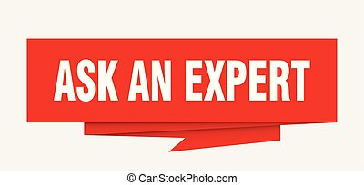 ask an expert sign. ask an expert paper origami speech...