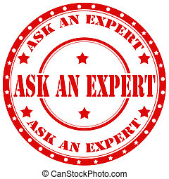 Ask An Expert-stamp - Red rubber stamp with text Ask An...