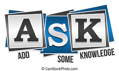 Ask Formula Blue Grey Squares