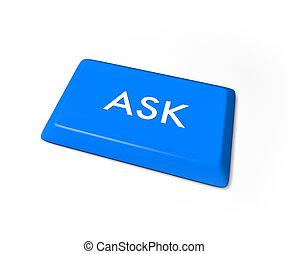 Ask Key - Isolated on White