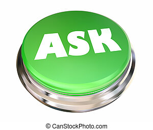 Ask Question Inquire Get Information Help Button 3d Animation