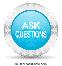 ask questions icon, christmas button