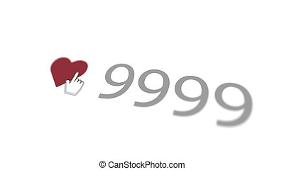 Askew Love You Sign 9999 - An affectionate 3d rendering of a...