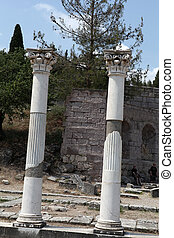Asklepion place on the island of Kos where Hippocrates has built one of the first hospitals in the European civilization