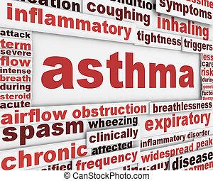 asma, cartel, plano de fondo