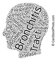 asmatic bronchitis text background wordcloud concept