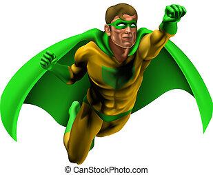 asombroso, superhero, ilustración