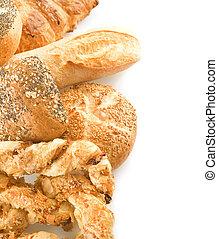 asortyment, bread, brzeg