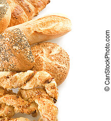 asortyment, brzeg, bread