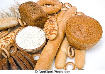 asortyment, upieczony chleb