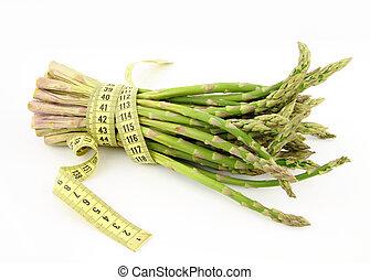 asparago, bianco, isolato, fondo, mazzo