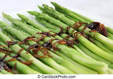 asparago, cotto, asiatico