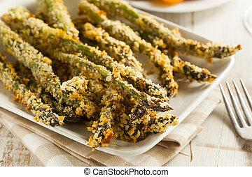 asparago, impanato, casalingo, panko