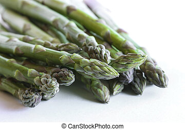 Asparagus against a white background