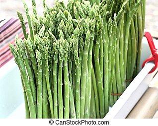 asparagus bunch at street food