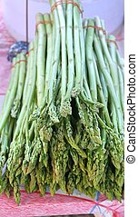 asparagus bunch at the market
