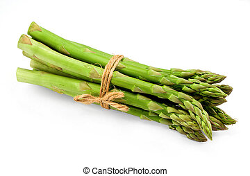 Asparagus bunch on white - Asparagus bunch a premium...