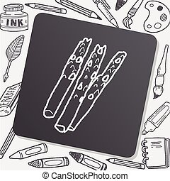 asparagus doodle