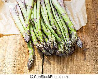 Asparagus. Fresh organic vegetables