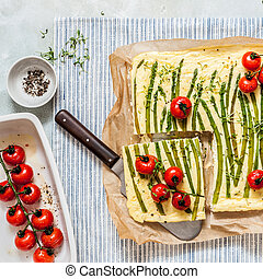 Asparagus Frittata with Tomatoes
