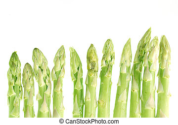 Asparagus isolated in white background