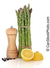 Asparagus, Lemon and Pepper