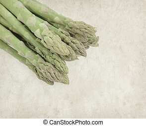 Asparagus on old paper background