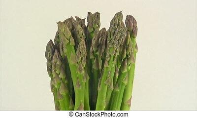 Asparagus - Rotating fresh green asparagus