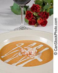 Asparagus soup a la carte