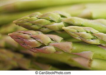 Asparagus spears macro