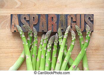 Asparagus with word