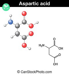 Aspartic acid chemical structure