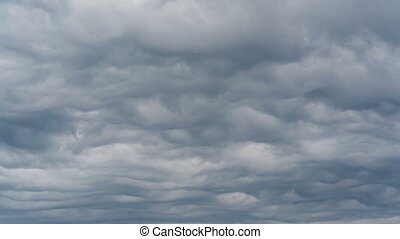 Asperitas a new type of clouds - Asperitas Waves. Time lapse...