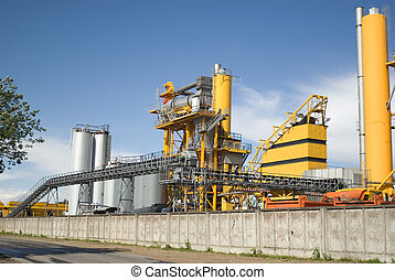 Asphalt factory - Bitumastic macadam mixing modular plant...