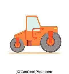 Asphalt Finisher Road Machine , Part Of Roadworks And...