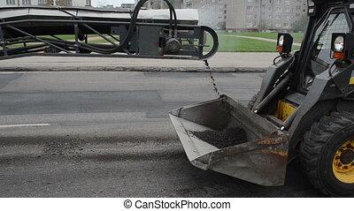 asphalt load truck - Asphalt remains dirt load to small rv...