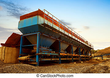 Asphalt mixing plant - Wild pitch spices station, dusk ...