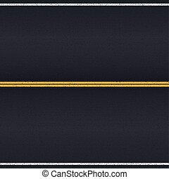 Asphalt road. - Asphalt road texture with white and yellow ...