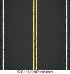 Asphalt Road - Asphalt road, top view, vector eps10 ...