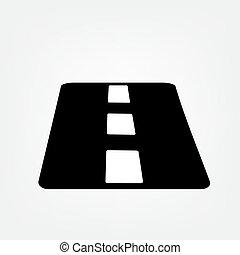 asphalt road icon