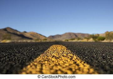 Asphalt road in California