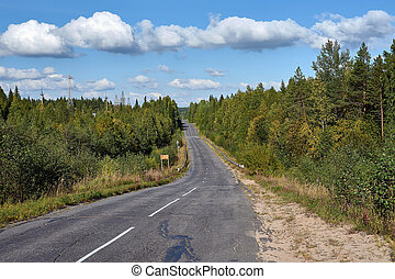Asphalt road in the countryside