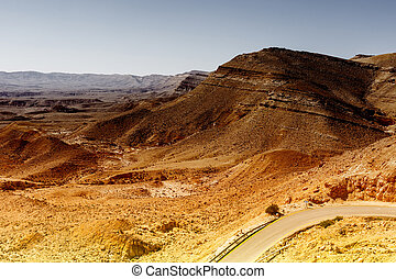 Asphalt road in the Negev Desert