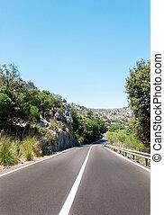 Asphalt road - Highway road somewhere in Spain