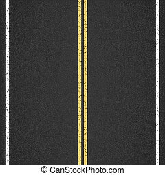 Asphalt Road - Asphalt road, top view, vector eps10...